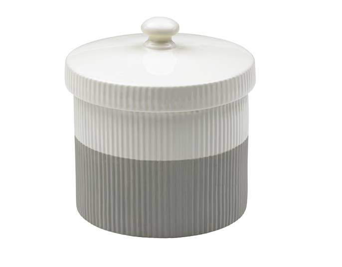 Ceramic Ridged Treat Jar Gray - Hunter & June