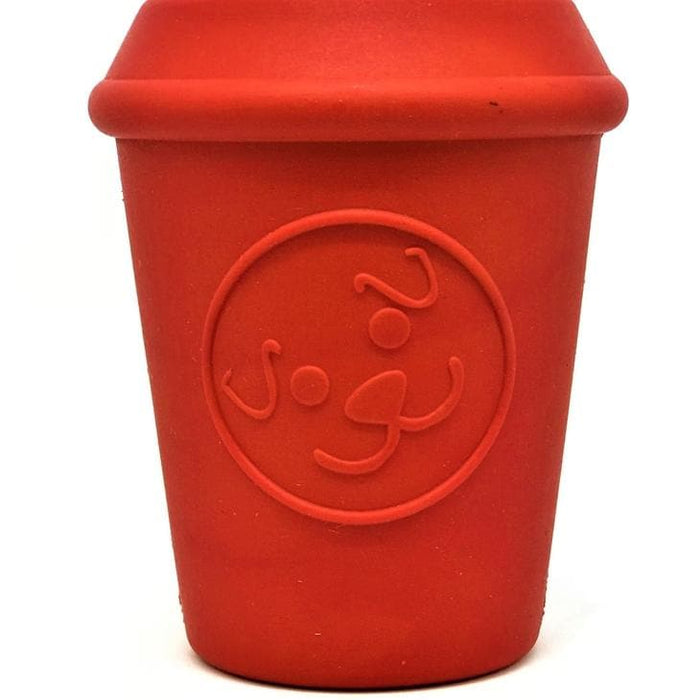 Coffee Cup Tuff Chew Toy Red