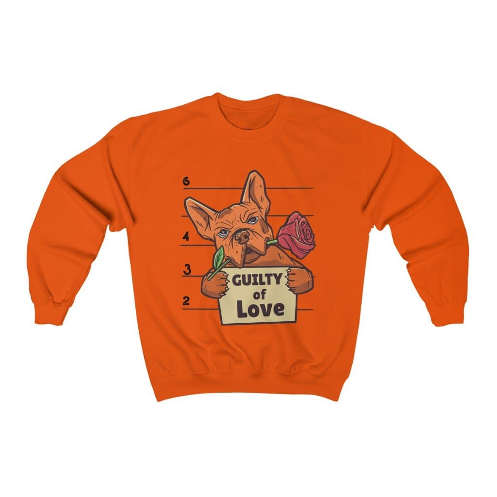 Bulldog Guilty of Love Unisex Heavy Blend Crewneck Sweatshirt - Hunter & June