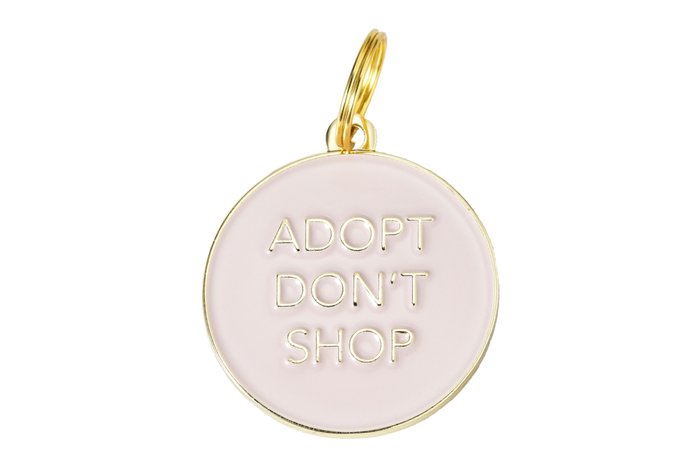 Adopt Don't Shop Charm/ID Tag Blush