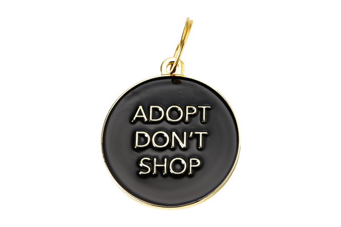 Adopt Don't Shop Charm/ID Tag Black