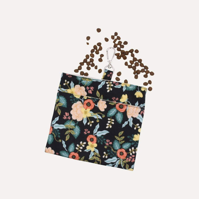 Black Floral Treat Bag - Hunter & June