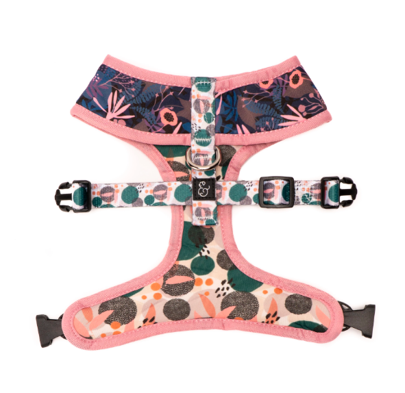 Fall Floral Reversible Harness
