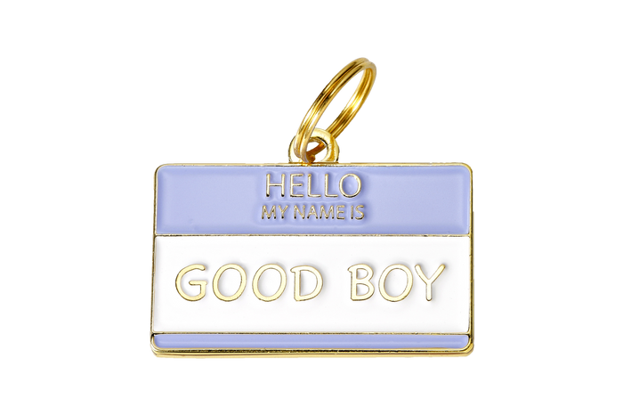 Hello My Name is Good Boy Charm/ID Tag - Hunter & June