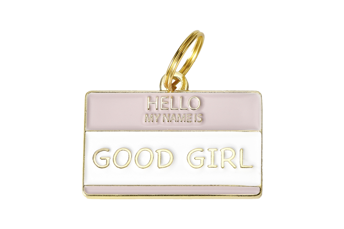 Hello My Name is Good Girl Charm/ID Tag - Hunter & June