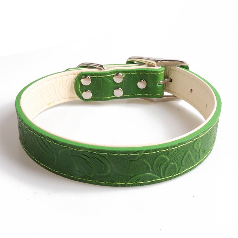 Embossed Leather Dog Collar - Hunter & June