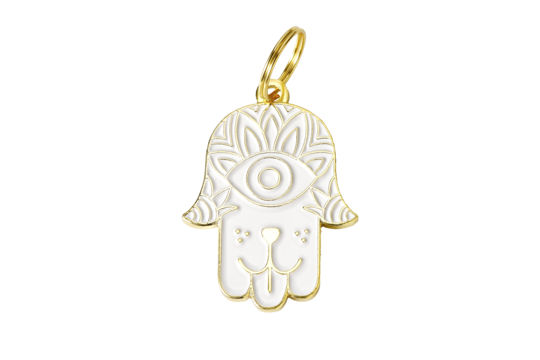Hamsa Charm/ID Tag White - Hunter & June