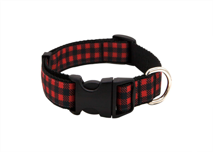Holiday Red Check Collar
