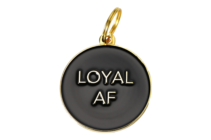 Loyal AF Enamel Charm/ID Tag Black - Hunter & June