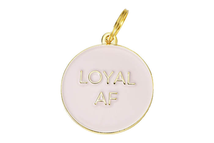 Loyal AF Enamel Charm/ID Tag Blush