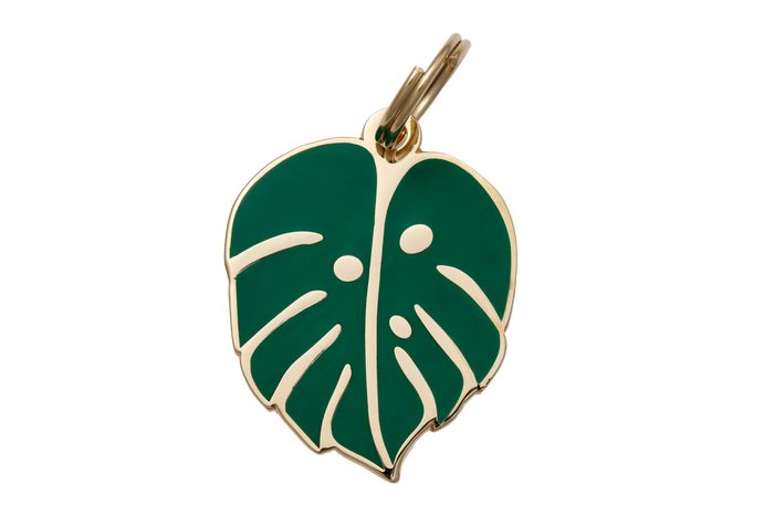 Monstera Leaf Charm/ID Tag