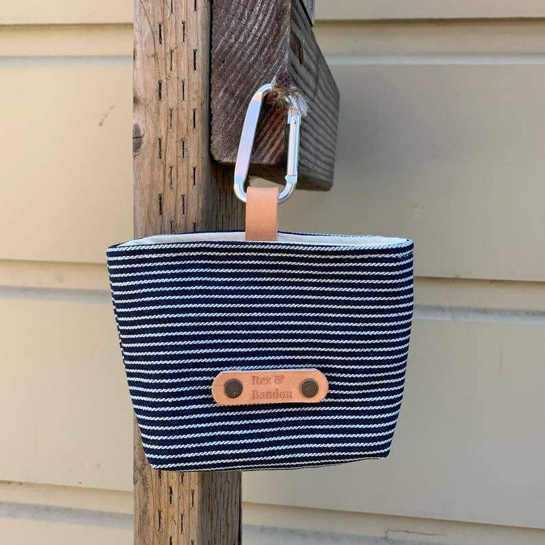 Denim Railroad Stripe Treat Bag