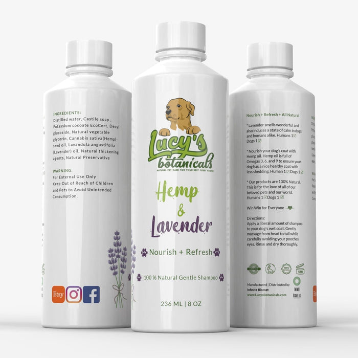 Hemp + Lavender Natural Dog Shampoo