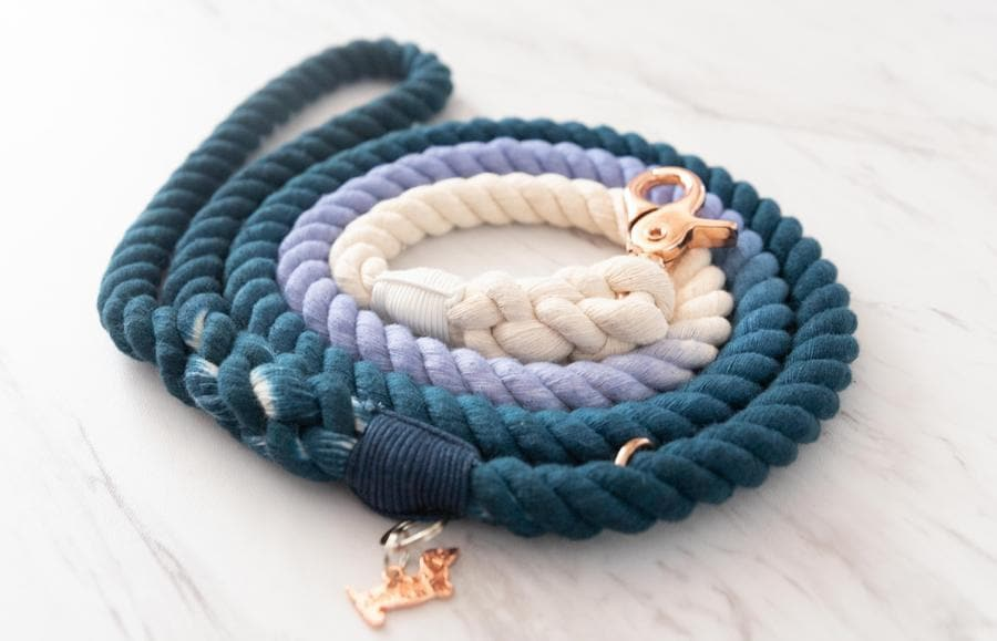 Blue Ombre Rope Leash