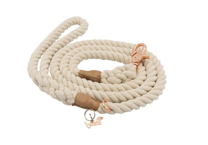 Natural Beige Rope Leash