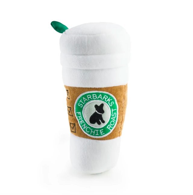 Starbarks Coffee Cup Plush Dog Toy