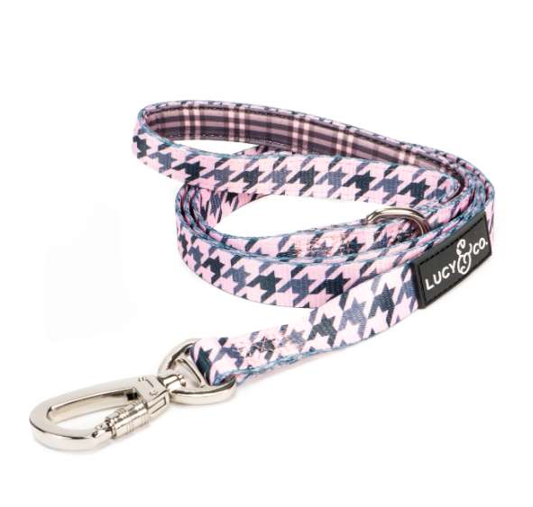 Blush Houndstooth Leash