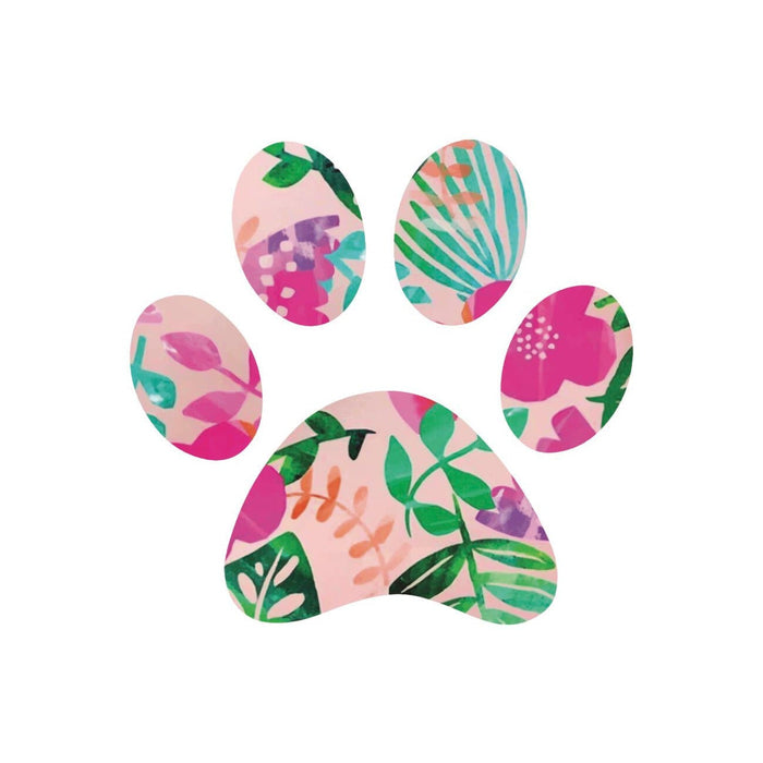 Floral Paw Print Sticker - Hunter & June