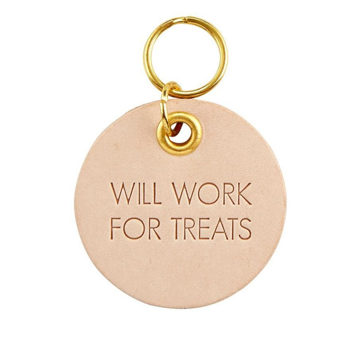 Leather Tag - Will Work For Treats