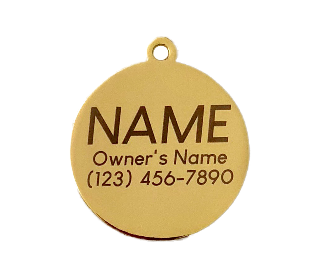 Lighting Bolt Charm/ID Tag White & Gold