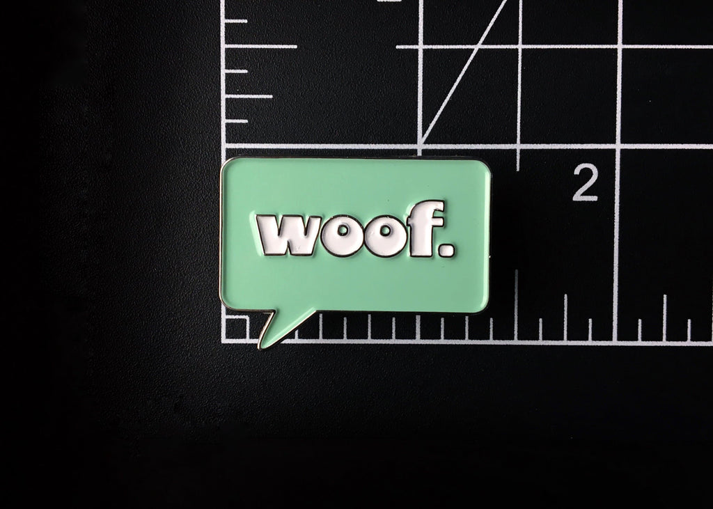 Retro Woof Pin
