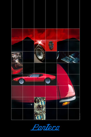 Retro Twin Turbo Pantera Grid Poster
