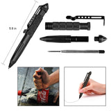 10 in 1 Outdoor Camping Travel Survival Set Multifunction First aid SOS Emergency Supplies, Tactical Pen + Compass