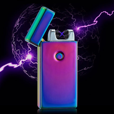 Double fire Tesla Arc Lighter - Lighter / Cigarette Arc Lighter - USB Chargeable
