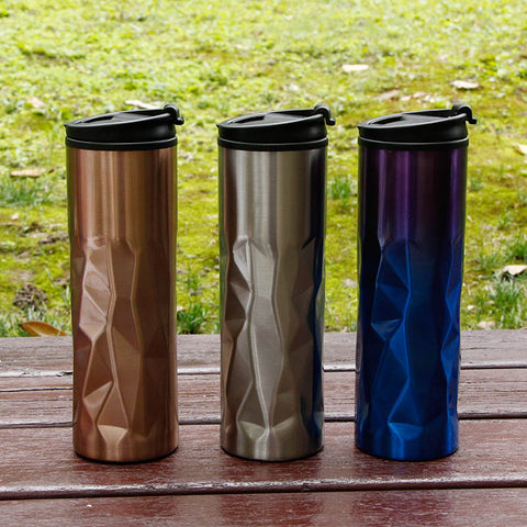 450ml Stainless Steel thermos Irregular Electroplate thermocup Tumbler Vacuum Flask portable water bottle Kettle travel mug