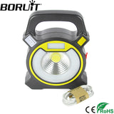 Boruit 15W LED Portable Floodlight Lantern - Outdoor Waterproof 4-Mode Emergency Spotlight Lamp for Camping Hiking Tent Light