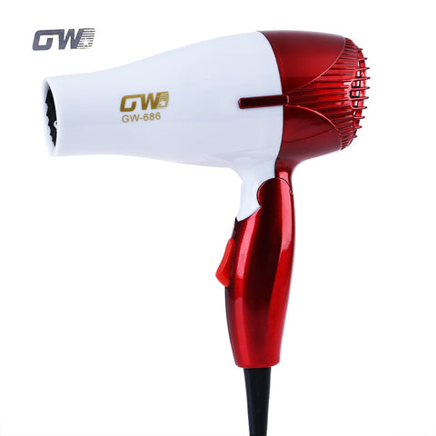 GW Mini 1200W Hair Dryer Foldable Portable Traveller Compact Blower With Thermostatic Function