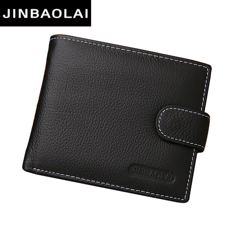 Genuine Leather Men Wallets Brand Quality Design Wallet with Coin Pocket For Men
