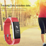 LEMFO ID115 Smart Wristband Heart Rate Monitor Fitness Tracker Smartband Bracelet Wrist Band for IOS Android Phone