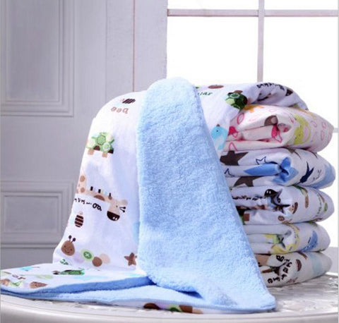 Newborn Baby Blanket For Winter Autumn (Thick Cotton Cashmere Blanket Travel / Receiving Blankets for Infant