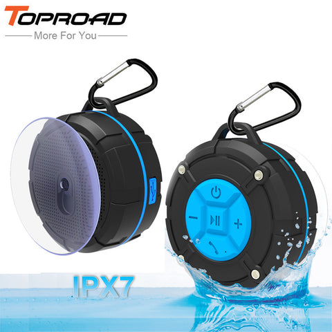 TOP ROAD Waterproof Outdoor Bluetooth Speaker Portable Wireless Subwoofer Loudspeaker (Shower, Bicycle Speakers with Suction Cup)