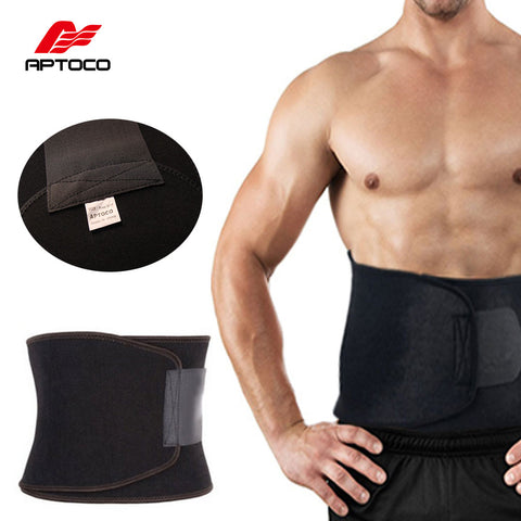 APTOCO Adjustable Waist Trimmer Exercise Sweat Belt Fat Burner / Shaper (Burn Cellulite for Men Women)
