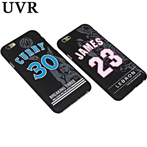 Lebron James Basketball 360 Hard Soft Case Cover For iPhone 5S, 6, 6s, 7, 7+ (Lebron James 23 Curry 30 Hard Back Cover)