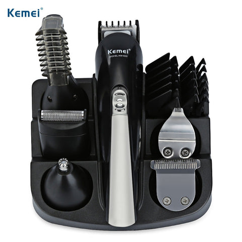 Original Kemei Professional Hair Trimmer 6 In 1 Hair Clipper Shaver Set - Electric Shaver, Beard Trimmer, Cutting Hair