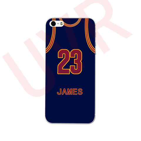 LEBRON JAMES Basketball Art Case for iPhone 5 5s 6 6s 6+ 7 7+ TPU Soft Plastic