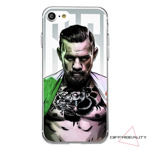 MMA Champion Conor Mcgregor Vs Boxing Champ Floyd Mayweather Cool Feature Soft Shell Case phone Cover for iPhone 7 6 plus 5 SE
