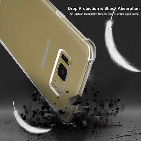 S8 Case For Samsung Galaxy S8 Plus - Silicon Ultra Thin Soft Transparent TPU Shockproof Case Cover