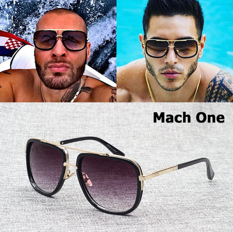 Mach One Style Aviator Sunglasses (Conor McGregor / Floyd Mayweather Style Type)