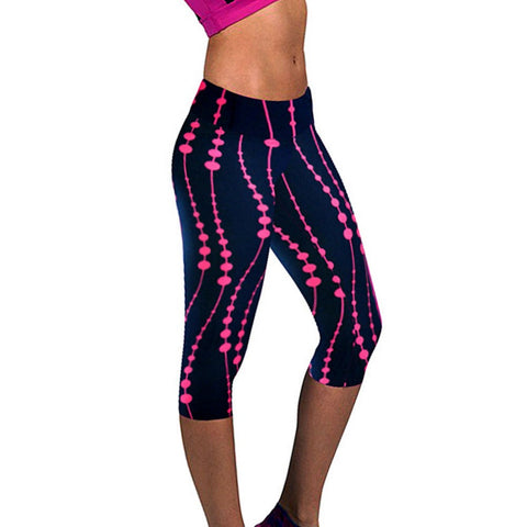 Women's 3D Print Capris Leggings - Medium & Plus Size (Sport Fitness Pants Outdoor Training Gym Clothes)