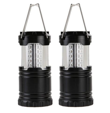 Ultra Bright 30 LED Collapsible Camping Lanterns Light For Hiking Camping Emergencies - Lightweight Portable Lantern