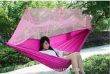 Ultralight Parachute Hammock for Outdoor Camping Hunting with Mosquito Net - 2 Person Flyknit Hamak Hanging Bed Leisure Hamac