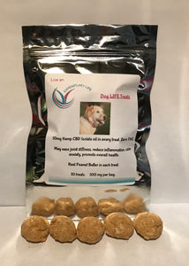 Dog Treats - Hemp CBD 5 mg and 10 mg per treat- Peanut Butter