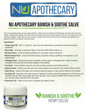 Hemp Extract Salve - Banish & Soothe NEW name Even & Clear