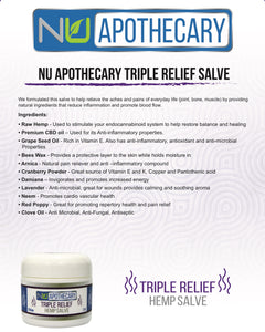 Hemp Extract Salve -  Triple Relief