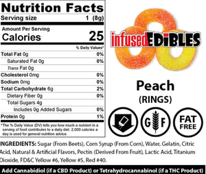 Gummies Hemp CBD - Peach Rings