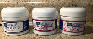 Hemp Extract Salve -  Triple Relief 250 mg, 500 mg, & 1,000mg